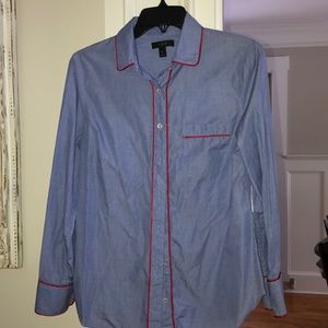 JCrew pajama style button down. Size 8